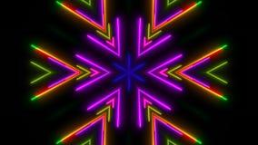 Indicatore luminoso al neon variopinto Contesto astratto di Digital Fotografia Stock