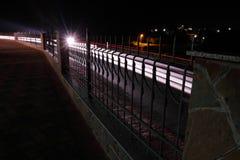 Indicatore luminoso alla notte Fotografia Stock Libera da Diritti