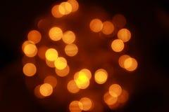 Indicatore luminoso arancione Fotografia Stock