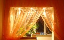 Indicatore luminoso arancione Fotografie Stock Libere da Diritti