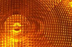 Indicatore luminoso arancione nella costruzione Immagine Stock
