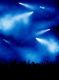 Indicatore luminoso blu al concerto Immagini Stock