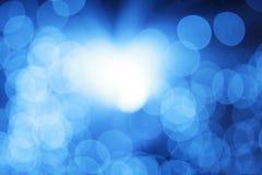 Indicatore luminoso blu astratto Fotografia Stock