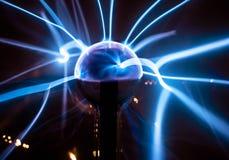 Indicatore luminoso blu elettrico Fotografia Stock