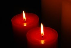 Indicatore luminoso caldo della candela Fotografie Stock