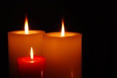 Indicatore luminoso caldo della candela Fotografia Stock Libera da Diritti