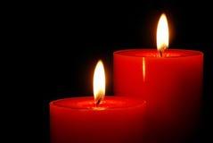 Indicatore luminoso caldo della candela Fotografia Stock