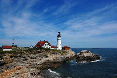 Indicatore luminoso capo di Portland - della Maine Fotografia Stock