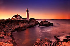 Indicatore luminoso capo di Portland, Maine Immagini Stock