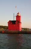 Indicatore luminoso del porto dell'Olanda Fotografia Stock