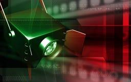 Indicatore luminoso del punto Fotografia Stock