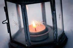 Indicatore luminoso della candela Fotografie Stock