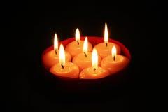 Indicatore luminoso della candela Immagine Stock Libera da Diritti