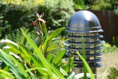 Indicatore luminoso della colonna di ormeggio del giardino immagini stock libere da diritti