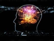 Indicatore luminoso della mente Immagini Stock