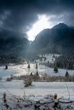 Indicatore luminoso della montagna Fotografia Stock Libera da Diritti