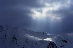 Indicatore luminoso della montagna Fotografia Stock