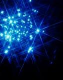 Indicatore luminoso della stella blu Immagini Stock Libere da Diritti