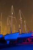 Indicatore luminoso delle barche verniciato con le tracce della stella Immagine Stock