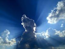 Indicatore luminoso di cielo Fotografia Stock