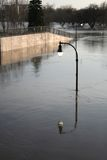 Indicatore luminoso di inondazione Fotografia Stock