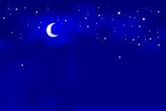 Indicatore luminoso di luna Fotografia Stock