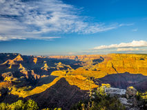 Indicatore luminoso di mattina al Grand Canyon Immagine Stock