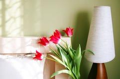 Indicatore luminoso di mattina in camera da letto Immagini Stock
