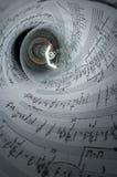 Indicatore luminoso di musica Fotografia Stock
