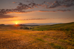 Indicatore luminoso di primo mattino in Toscana Fotografie Stock
