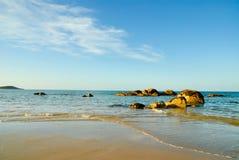 Indicatore luminoso di sera sulla spiaggia Immagini Stock Libere da Diritti