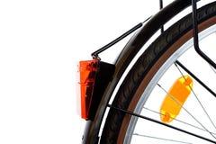 Indicatore luminoso di sicurezza rosso delle parti della bicicletta della città Immagini Stock