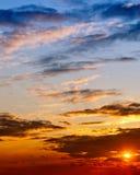 Luce di tramonto Fotografia Stock