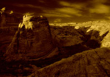 Indicatore luminoso di tramonto degli archi Fotografia Stock Libera da Diritti