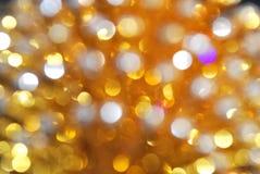 Indicatore luminoso dorato Immagini Stock