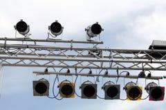 Indicatore luminoso e casella Fotografia Stock