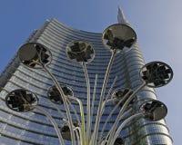 Indicatore luminoso e grattacielo Fotografia Stock