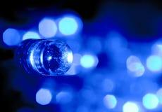 Indicatore luminoso elettrico dell'azzurro LED Fotografia Stock