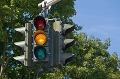 Indicatore luminoso giallo Fotografia Stock Libera da Diritti