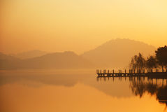 Indicatore luminoso lian della brezza del lago water Fotografia Stock