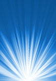 Indicatore luminoso luminoso blu Fotografia Stock