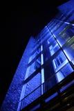 Indicatore luminoso moderno dell'azzurro della costruzione Immagine Stock