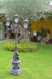Indicatore luminoso nel giardino immagine stock