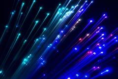 indicatore luminoso ottico della fibra Fotografie Stock