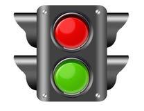 Indicatore luminoso pedonale Immagini Stock Libere da Diritti