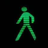 Indicatore luminoso pedonale Fotografia Stock Libera da Diritti