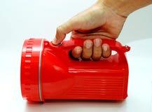 Indicatore luminoso rosso della torcia Fotografia Stock Libera da Diritti