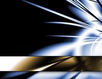 Indicatore luminoso scoppiato - azzurro Fotografia Stock Libera da Diritti