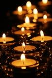 Indicatore luminoso stagionale della candela Fotografie Stock Libere da Diritti