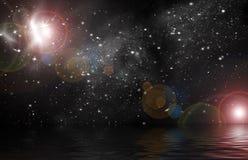 Indicatore luminoso stellare nello spazio Fotografia Stock Libera da Diritti